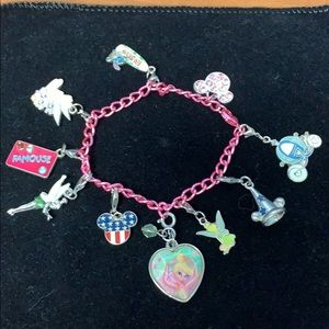 Authentic Walt Disney kids charm bracelet 10 charm